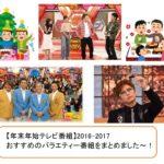 【年末年始テレビ番組】2016-2017おすすめのバラエティー番組をまとめました~!