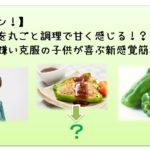 【ガッテン!】ピーマンを丸ごと調理で甘く感じる!?ピーマン嫌い克服の子供が喜ぶ新感覚簡単レシピ!