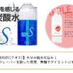 【強炭酸水KUOS(クオス)】大分の純水仕込み!アップルフレーバーを試した感想、無糖でダイエットにもお薦め!